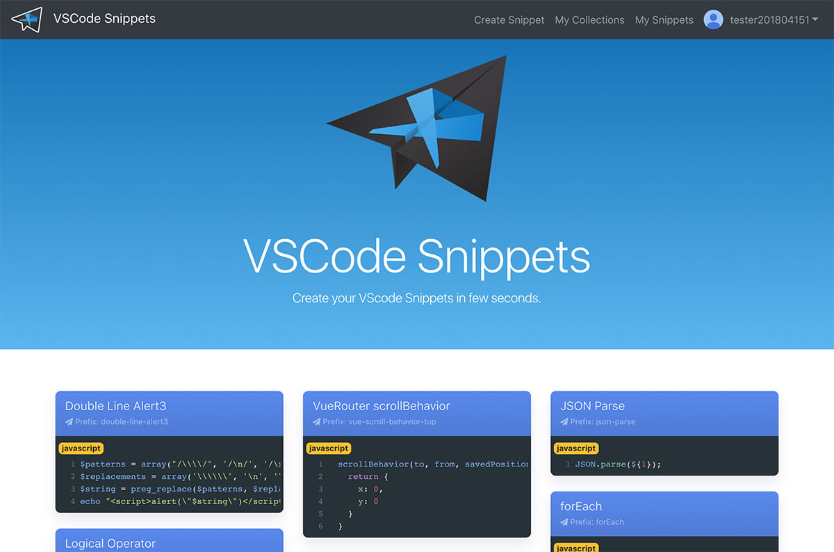 VSCodeSnippets Web Design